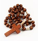 rosary on white