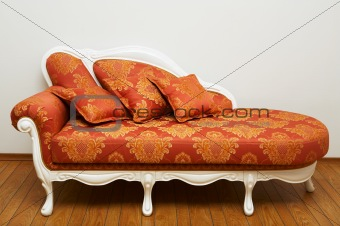 Beautiful red sofa