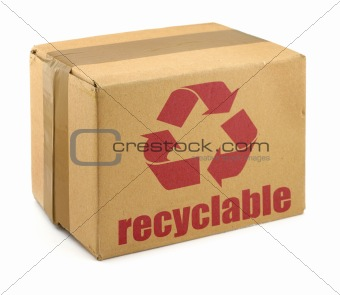 cardboard box with symbol #2