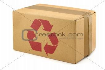 cardboard box with symbol