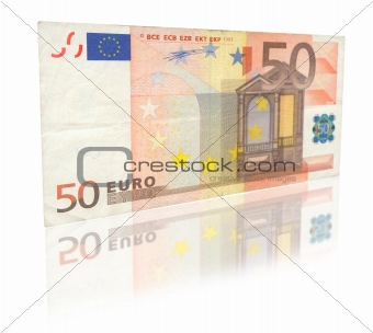 50 Euro with reflection