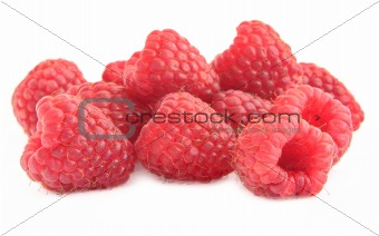 group of raspberries