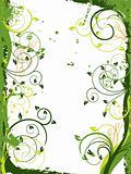 Floral grunge frame, vector