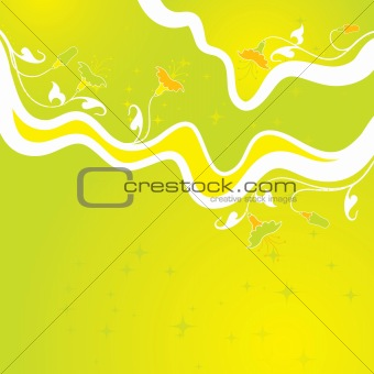 Floral abstract backgrounds, vector