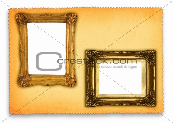 antique frames against retro background