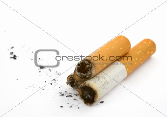 three cigarettes butts