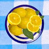 Lemons on a dinner plate
