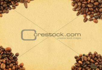 frame with coffe