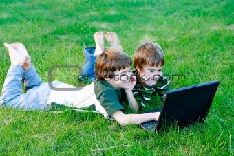 Boys on Computer