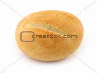 fresh bun on white
