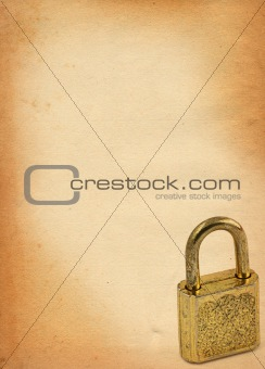 old paper with padlock