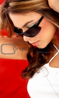 fashion portrait - sunglasses