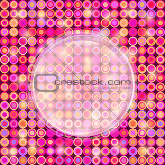 Abstract Pink Card with Round Label