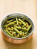 vegetarian indian snake bean masala curry