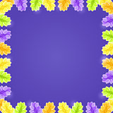 Shiny Flower Frame with Copy space