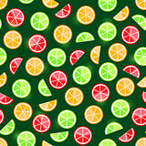 orange lime grapefruit seamless pattern