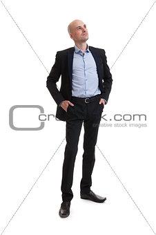 smiling business man standing full length