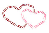 Paper clips hearts