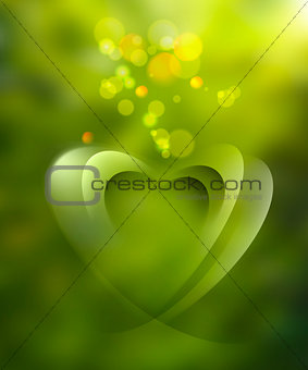 Green abstract blurred background
