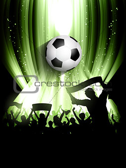 Football crowd background