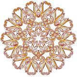 Rose pink floral pattern