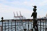 """Sculpture """"Seaman`s wife"""" in Odessa"""