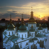 Fragment of the St. Sophia cathedral at sunset.