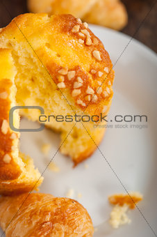 fresh baked muffin and croissant mignon