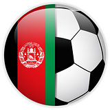 Afghanistan Flag with Soccer Ball Background