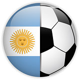 Argentina Flag with Soccer Ball Background