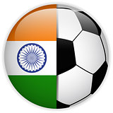 India Flag with Soccer Ball Background