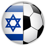 Israel Flag with Soccer Ball Background