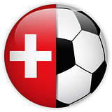Switzerland Flag with Soccer Ball Background
