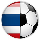 Thailand Flag with Soccer Ball Background