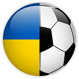 Ukraine Flag with Soccer Ball Background