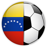 Venezuela Flag with Soccer Ball Background