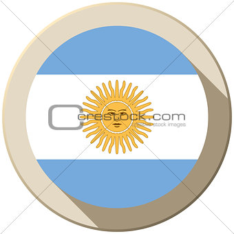 Argentina Flag Button Icon Modern