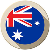 Australia Flag Button Icon Modern