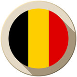 Belgium Flag Button Icon Modern