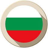 Bulgaria Flag Button Icon Modern