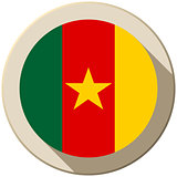 Cameroon Flag Button Icon Modern