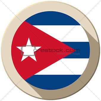 Cuba Flag Button Icon Modern