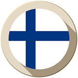 Finland Flag Button Icon Modern
