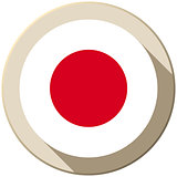 Japan Flag Button Icon Modern
