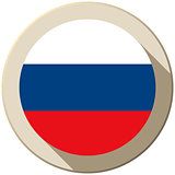 Russia Flag Button Icon Modern