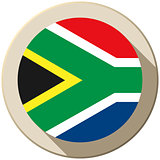 South Africa Flag Button Icon Modern