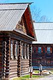 Russian wooden hut in the old style