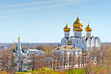 view urban architecture of Yaroslavl from above