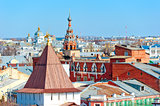 Cityscape Yaroslavl removed from height