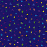 Multicolour stars seamless pattern
